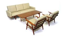 Hans Wegner Sofa and GE-270 Chairs for Getama Gedsted