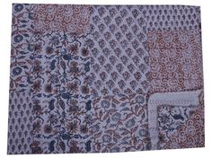 Hand Block Print Cotton Kantha Quilt Patchwork Throw Gudari Bedspread Blanket #Handmade #Traditional