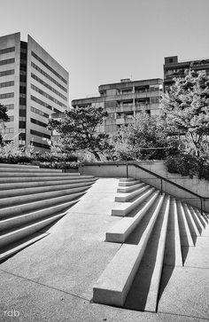 Arthur Erickson Architect, Venetian Stairs by deanbouchard. Landscape Elements, Landscape Architecture Design, Urban Architecture, Space Architecture, Architecture Details, Building Architecture, Landscape Stairs, Urban Landscape, Ramp Design