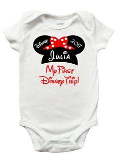My First Disney Trip One Piece Bodysuit - First Disney Shirt for Baby Girls  and Boys (Sizes Newborn - 18 Months) b865d44df