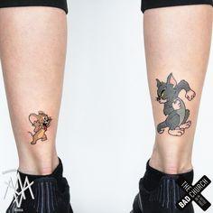 ✔ Couple Tattoo Ideas Marvel - ✔ Couple Tattoo Ideas Marvel Best Picture For tattoo qu - Bff Tattoos, Dope Tattoos, Mini Tattoos, Partner Tattoos, Sibling Tattoos, Cartoon Tattoos, Friend Tattoos, Unique Tattoos, Beautiful Tattoos