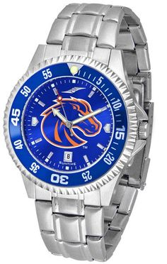 Mens Boise State Broncos - Competitor Steel AnoChrome Watch - Color Bezel