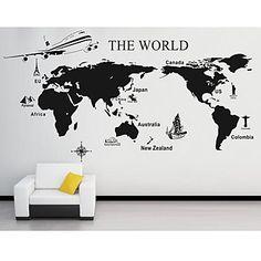現代アートなモダン キャンバスアート 絵 壁 壁掛けけ ウォールステッカー世界地図 デカール The World Map マップ【納期】お取り寄せ2~3週間前後で発送予定【送料無料】ポイント【楽天市場】