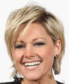 Short hairstyles for thick hair with side bangs for straight hair