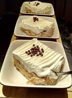 Greek Sweets, Greek Desserts, Greek Recipes, Food Network Recipes, Cooking Recipes, Fridge Cake, Fudge Brownies, Sweet And Salty, Cakes And More