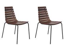 Walnut/Black Beitzel Side Chairs, Pair on OneKingsLane.com