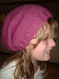 """Slouch hat free knitting pattern (have to try one of these again, can't seem to get the right """"slouch"""" on mine) (Feb-2014 link on Ravelry no longer works!)"""