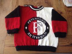 Over de stoere Feijenoord trui die ik heb gebreid