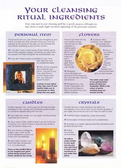 Magick Spells: Your Cleansing Ritual Ingredients. Magick Spells, Green Witchcraft, Wiccan Witch, Eclectic Witch, Practical Magic, Mind Body Spirit, Kitchen Witch, Book Of Shadows, Spelling