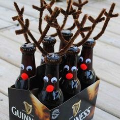 """It's not the holidays without some """"Rein-Beers""""!!! Perfect for a hostess gift! You know what else makes a great gift? A CHRISTMAS CRATE of course! Last month we shipped so many gifted crates all over the country! Our Christmas lovers sure know how to celebrate the season! Gift one today in the link!"""