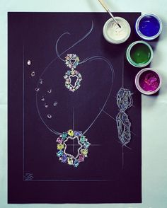 #sketch #DeLaurJewelry #Earrings #Pendant
