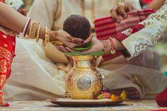 kalash in gold + coconut at a hindu wedding | Bengali Gujarati Indian Wedding in Tucson, Arizona | Photographs by IQPhoto Studio