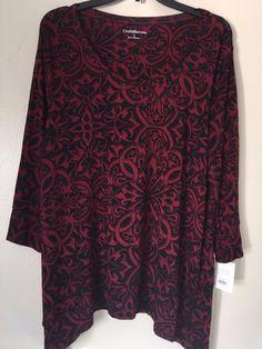 Croft&Barrow Womens 3/4 Sleeve Rayon Asymmetric Blouse Top Choice Size L-XXL NWT    eBay