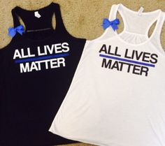 All Lives Matter- LOE tank - Thin Blue Line Tank - Police Wife Tank - – Ruffles with Love
