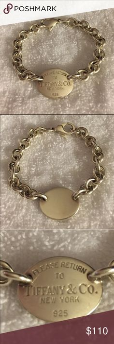 """Tiffany bracelet 100% Authentic Please Return to Tiffany & Co. bracelet.  This is 7"""" long and has a total weight of 26 grams Tiffany & Co. Jewelry Bracelets"""