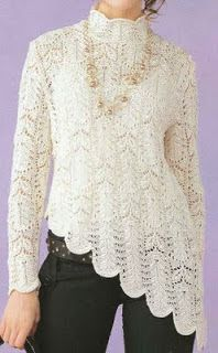 Free Knitting Patterns - White Sweater                             Again can be found at knitchart.com with - Charts only with Japanese symbols