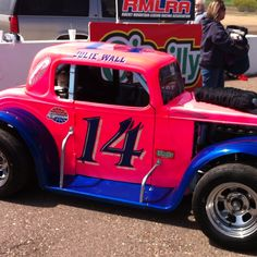 Legend cars on display at CNS, this is a pink, pink car. :)