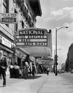 The Beatles movie, A Hard Day's Night at The National in 1964 A Hard Days Night, Les Beatles, Confederate States Of America, Jazz Band, Richmond Virginia, The Fab Four, Best Rock, Urban Life, Back In Time