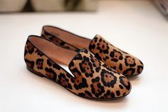 Leopard loafers. Yes!