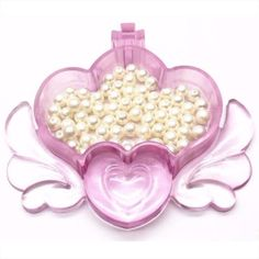 Magical Trinket Box Silicone Resin Mold   Crown Container with Angel Wings   Make Your Own Jewelry Box   Kawaii Craft Supplies (13.5cm x 12cm)