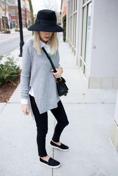 Windsor Store side slit sweater.