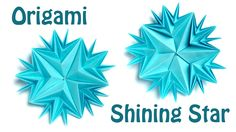 Tutorial how to make easy and spectacular origami star from paper. http://kusudama.me/ You need 5 squares for this origami star. Recommended origami paper si...
