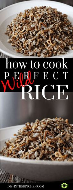 A quick tutorial on how to cook the best wild rice right on your stove. Serve as… A quick tutorial on how to cook the best wild rice right on your stove. Serve as a side dish or add this healthy grain to salads or soups. Rice Side Dishes, Vegetable Side Dishes, Food Dishes, Vegetable Appetizers, Wild Rice Pilaf, Wild Rice Recipes, Healthy Grains, Healthy Salads, Cooking Wild Rice