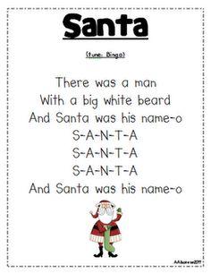 """""""Santa"""" song (tune of """"Bingo"""")"""