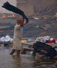 Sur le Gange à Varanasi, Inde