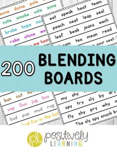 Blending Boards for Phonics and Fluency! Read about how I use these practice pages to differentiate. Over 200 pages following a K-2 phonics scope and sequence! From Positively Learning Blog