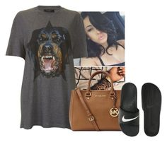 """""""You know I got that act right """" by zayani ❤ liked on Polyvore featuring Givenchy, Michael Kors and NIKE"""