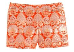 Orange patterned jacquard shorts 40 Fashion And Beauty Finds That Prove Orange Really Is The New Black