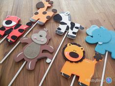 Jungle Animal Shapes  Cake Toppers or Party by BabyBinkz on Etsy, $12.00