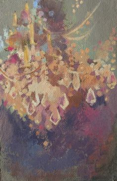 Chandelier Painting by Heather Robinson Teran