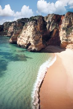 'Turquoise Crescent', Portugal, The Alrgarve, Lagos, Praia Dona Ana by WanderingtheWorld (www.ChrisFord.com). mistymorningme