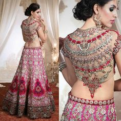 Exquisite bridal collection by @frontierbazar #bigindianwedding #indianwedding #indianbride #wedding #bridallehenga #lehengalookbook #lehenga #lehengadesign #bridalfashion #embellished #embroidery #pinklehenga #designerlehenga #bridaljewelry