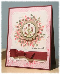 Stamping for Sanity: Pocket Silhouettes Scrapbooking, Scrapbook Cards, Get Well Cards, Paper Cards, Flower Cards, Greeting Cards Handmade, Homemade Cards, Stampin Up Cards, I Card