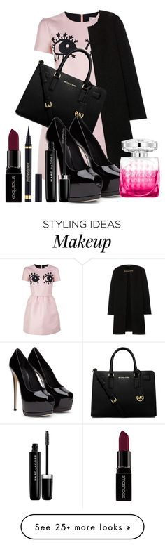 """""""Untitled #494"""" by sara21122000 on Polyvore featuring RED Valentino, Burberry, MICHAEL Michael Kors, Smashbox, Yves Saint Laurent, Jimmy Choo and Marc Jacobs"""