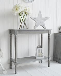 Small console table uk colonial furniture small console table with shelf for hallway ideas for decorating Bedroom Furniture Uk, Hall Furniture, Colonial Furniture, Cottage Furniture, White Furniture, Furniture Design, Large Bedside Tables, Small Console Tables, Sofa Tables