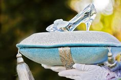 The ultimate Disney's Fairy Tale Wedding accessory: a glass slipper