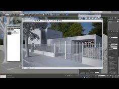 Vray HDRI tutorial in 3ds Max - YouTube Vray Tutorials, 3ds Max Tutorials, 3d Design, Creative Design, 3d Max Vray, Architecture Visualization, 3d Tutorial, Exterior Lighting, Photoshop