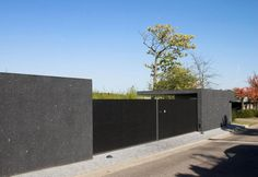 Minimalist Gray Fence Design For Home
