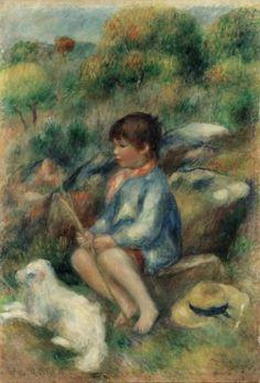 Pierre-Auguste Renoir (1841-1919) Jeune garon au ruisseau