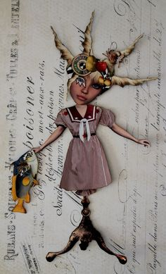 Doris.  Zetti paper doll for swap.