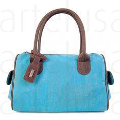 Handtasche aus Kork, Korktasche, Henkeltasche