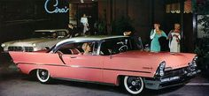 An absolutely fantastic pink 1957 Lincoln Premier. #vintage #cars #1950s