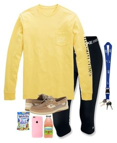 """""""Snapple Is The Best❤️"""" by hailstails ❤ liked on Polyvore featuring NIKE, Vineyard Vines, Sperry Top-Sider and Maison Margiela"""