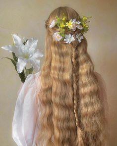 Elvish Hairstyles, Cute Hairstyles, Wedding Hairstyles, Hair Inspo, Hair Inspiration, Luscious Hair, Hair Reference, Aesthetic Hair, Mermaid Hair