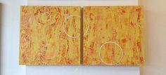 Bright Abstract Yellow Painting, Modern Art, Contemporary Art, Wall Art