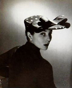 Hat by Achille, photo by Georges Saad, 1951